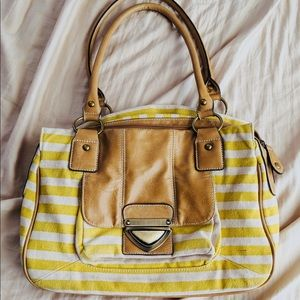 Striped purse